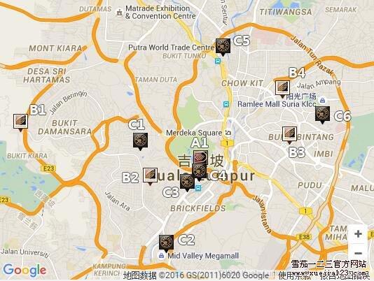 PCC雪茄 马来西亚吉隆坡地图版图片